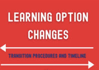LEARNING OPTION CHANGE REQUEST FORM