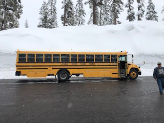 March 29, 2019 - Check out how much snow is up at Lassen Park!