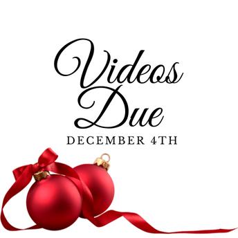 All Recital Videos Due Friday, November 4th!