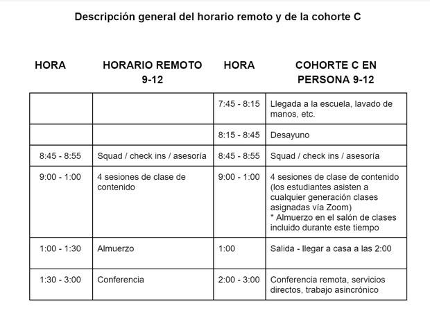 9-12 schedule decorative