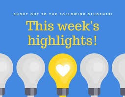 Student Shout-Outs & Special Recognitions