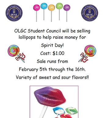 Student Council Lollipop Sale