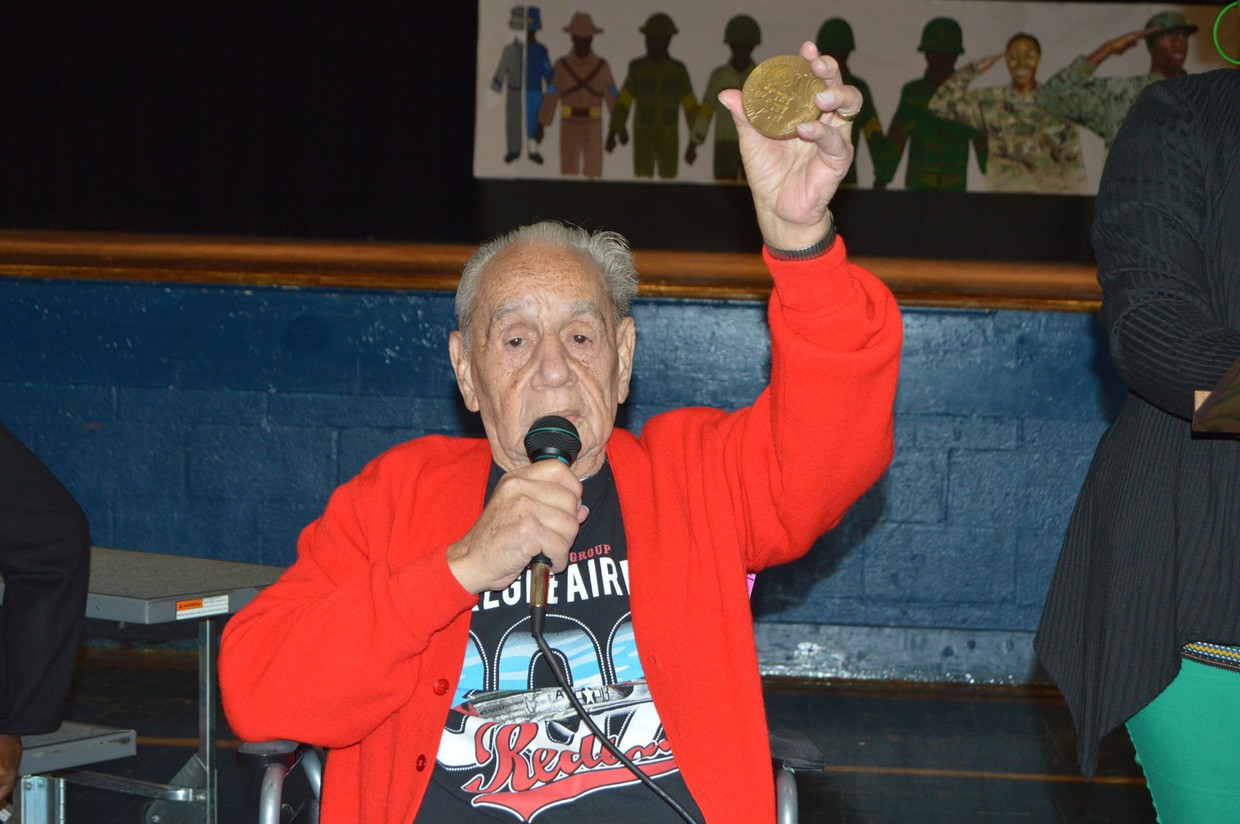 Tuskegee Airman Charles Chenier was the guest of honor at MACA's black history program, held on February 1. He is the last surviving Tuskegee Airman veteran in the state of Louisiana. Our students and faculty were honored to hear his story.