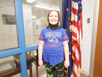 4th Grade Panther Pride Winner