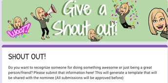 Want to give someone a shout out?