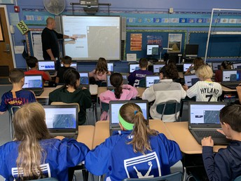 Grade 4 explored National Parks of California using the web tool Tour Builder.