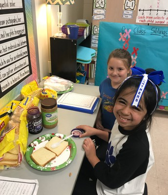 Acting out the How To on PB and J Writing