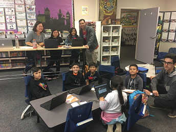 NCSD kids code with SUH students' support