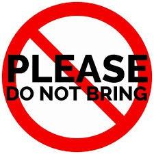 Children must not bring: