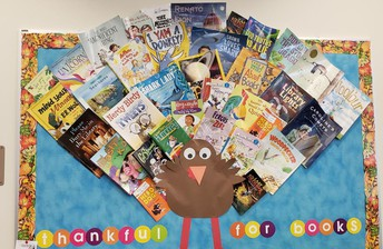 We are thankful for all our new books!