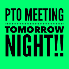 Virtual PTO Meeting Tomorrow!