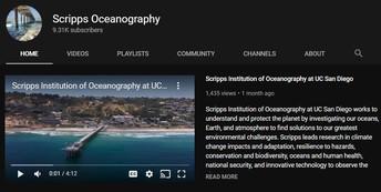Scripps Oceanography YouTube