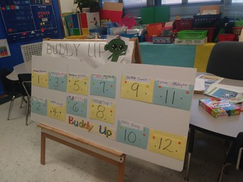 Buddy Board at Chester A Moore Elementary
