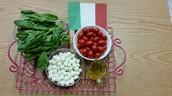 Caprese and Italian flags