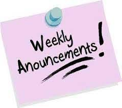 Weekly Announcement Link Now Live