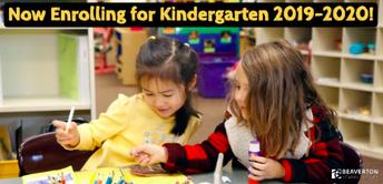 Kindergarten Registration is Open