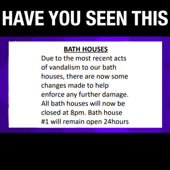 Bath Houses Opened & Closed
