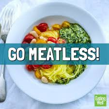 Try to continue to go meat-less 1 day each week!