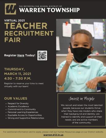 March 11th - 2021 Teacher Recruitment Fair