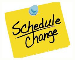 ****CHANGE IN DAILY SCHOOL SCHEDULE.****
