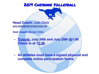2019 Volleyball Tryout Info