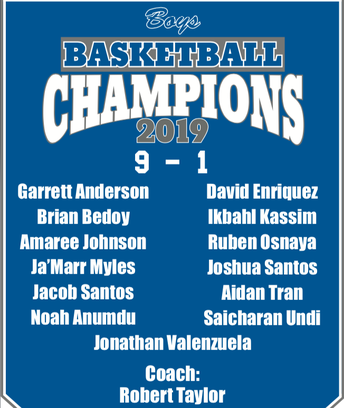 Congratulations Boys Basketball Team