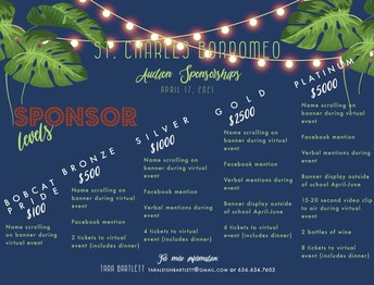 Who wants to be a Sponsor for our Auction???