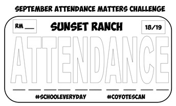 It's the LAST WEEK of the September Attendance Awareness Month Challenge!