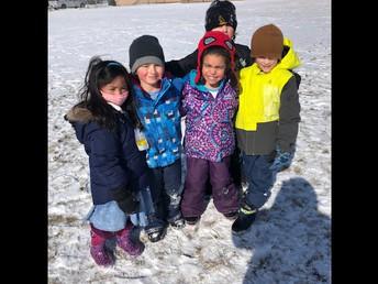 Kindergarten recess buddies