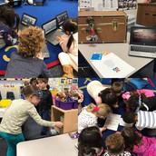 Kindergarten working on BreakoutEDU