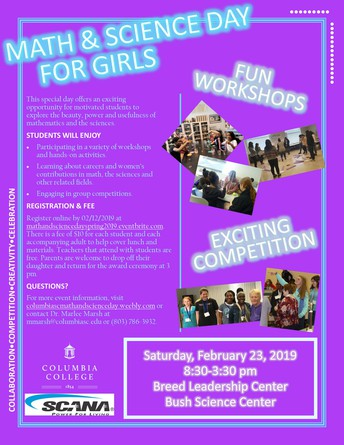MATH AND SCIENCE DAY FOR GIRLS