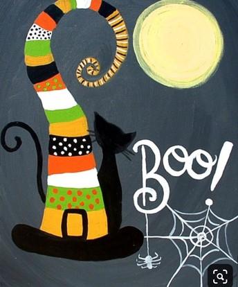 Boo! Halloween Painting