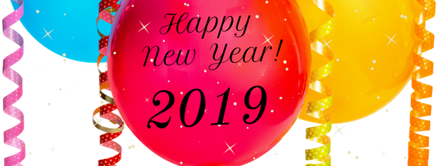 Happy New Year 2019 with Balloons