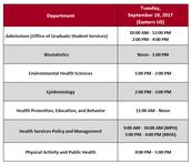 USC Arnold School of Public Health Virtual Graduate School Fair