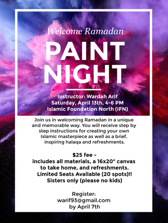 Paint Night to welcome Ramadan