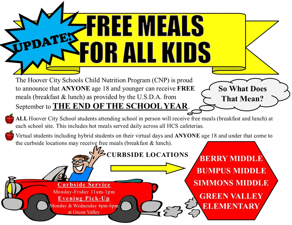 Free Meals for Kids all year