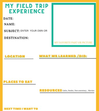 FIELD TRIP EXPERIENCE FORM