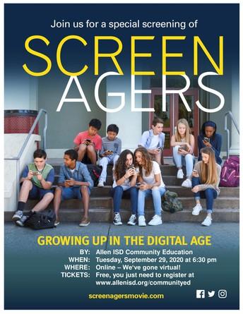 Screenagers Community Education Program