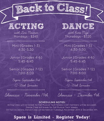 Fall Classes available!