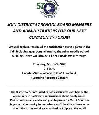 District 57 Community Forum