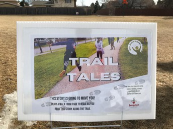 Madonna Students enjoyed a Trail Tale book walk!