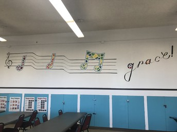 Completed Mural in Art Room! Thanks Ms. C!