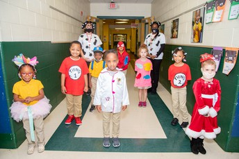 PreK Students Dressed as Book Characters