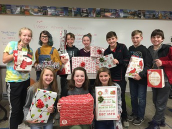 Wrapping Gifts at Pella Middle School