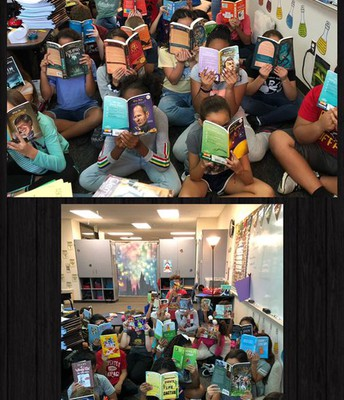 5th grade is grateful for some generous book donations!