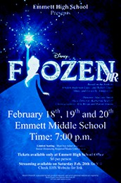 High School Drama presents: Disney's Frozen JR in live and streamed events