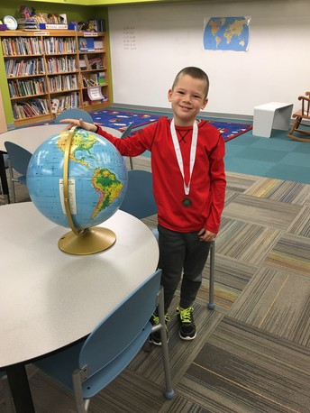 Charlie Maples headed to State Geography Bee!