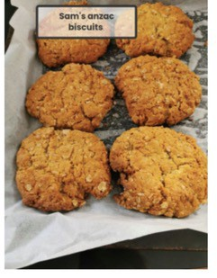 Sam's ANZAC biscuits