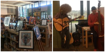 BHS Art Show in the Library