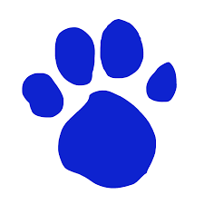 blue husky pawprint